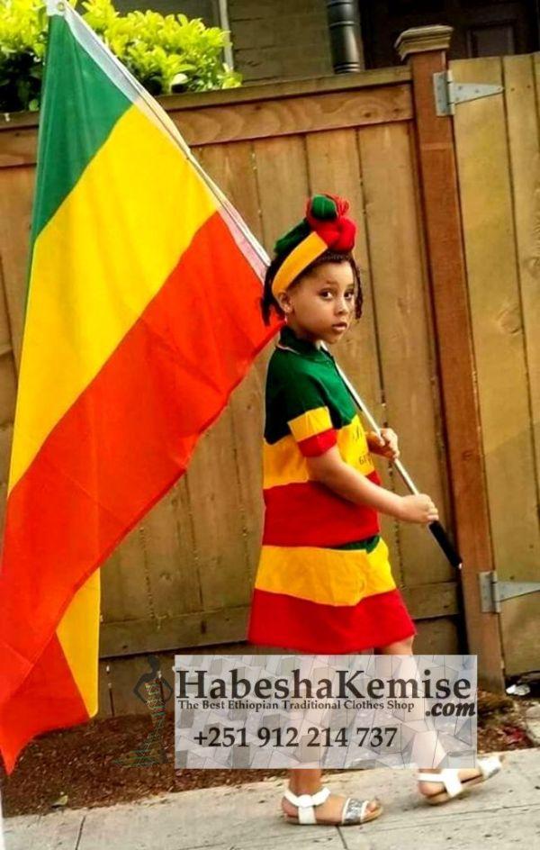 Ethio Kayla Ethiopian Traditional Dress Kids-23
