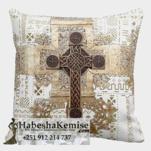 Hand Woven Meskel Tibeb Pillow Set Ethiopian House Decor-26