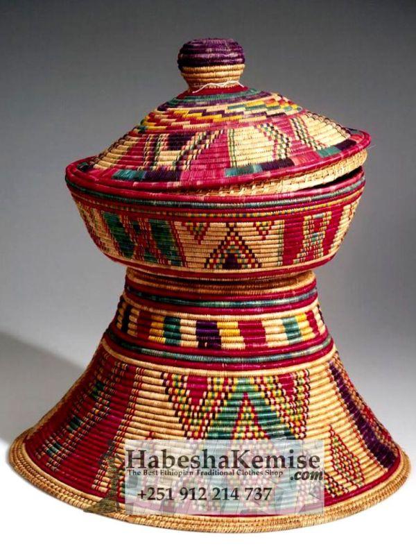 Hand Woven Mesob Ethiopian House Decor-7