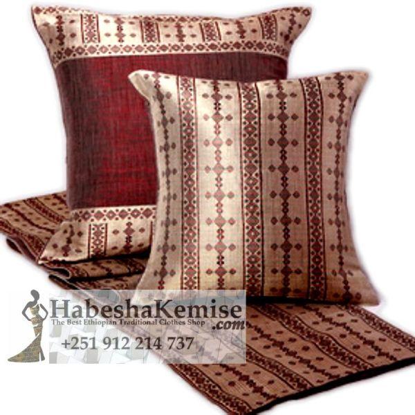 Hand Woven Pillow Set Ethiopian House Decor-21