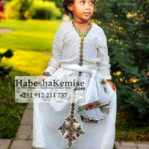 Karamela Ethiopian Traditional Dress Kids-1
