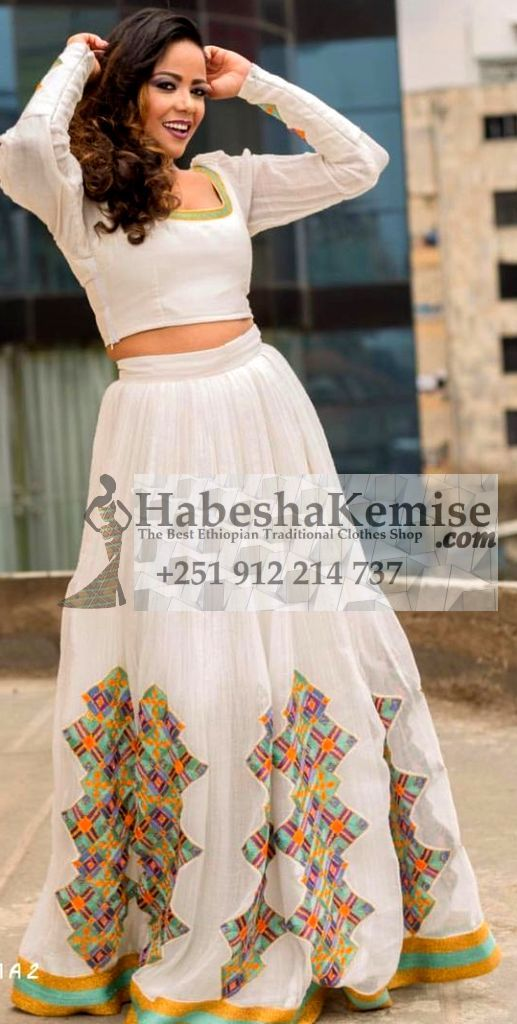 Lovely Hiwot Ethiopian Traditional Clothes-53