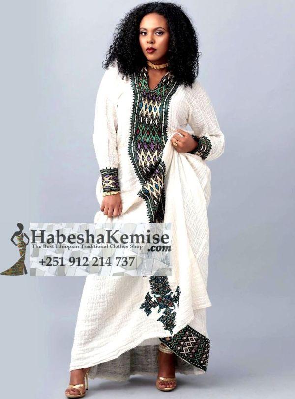 Mahalet Ethiopian Traditional Dress-43