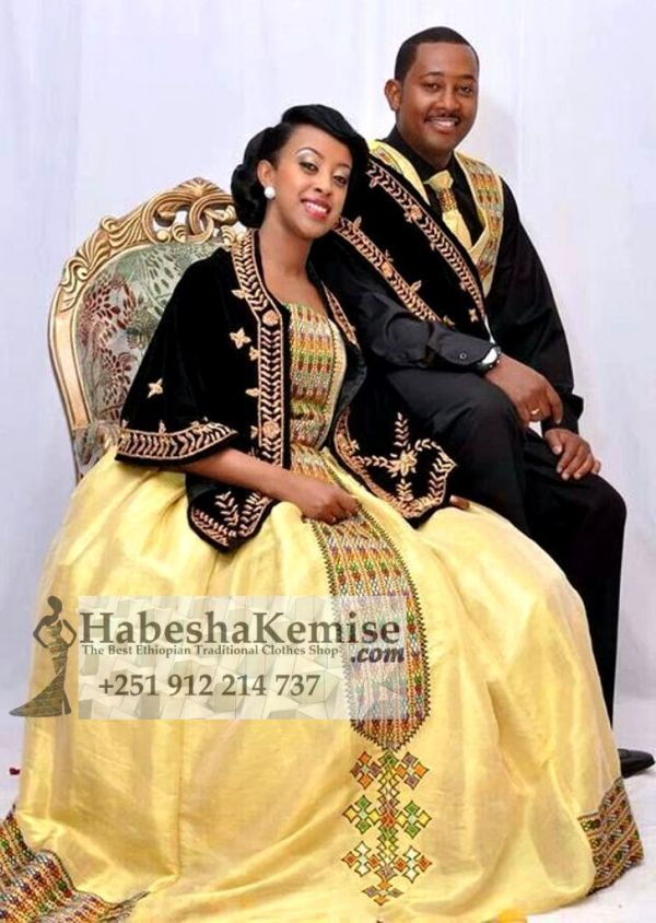 Mulu Prestige Traditional Ethiopian Wedding Clothes-54