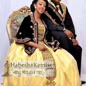 Mulu Prestige Traditional Ethiopian Wedding Clothes-54
