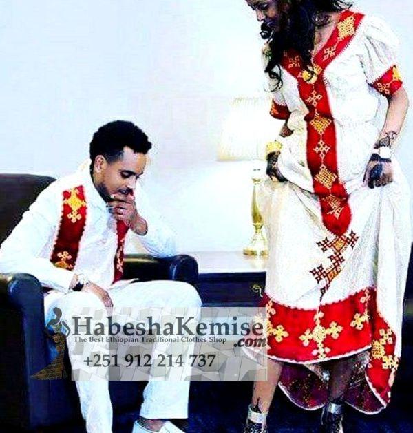 Nafkot Ethiopian Traditional Dress Wedding-47