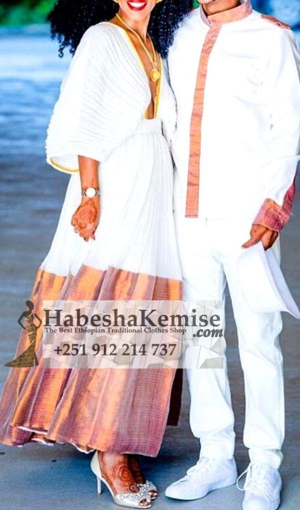 Pink Beauty Ethiopian Traditional Dress Wedding-41