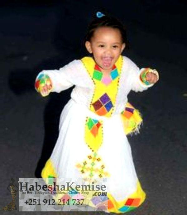 Pretty Neela Ethiopian Traditional Dress Kids-29