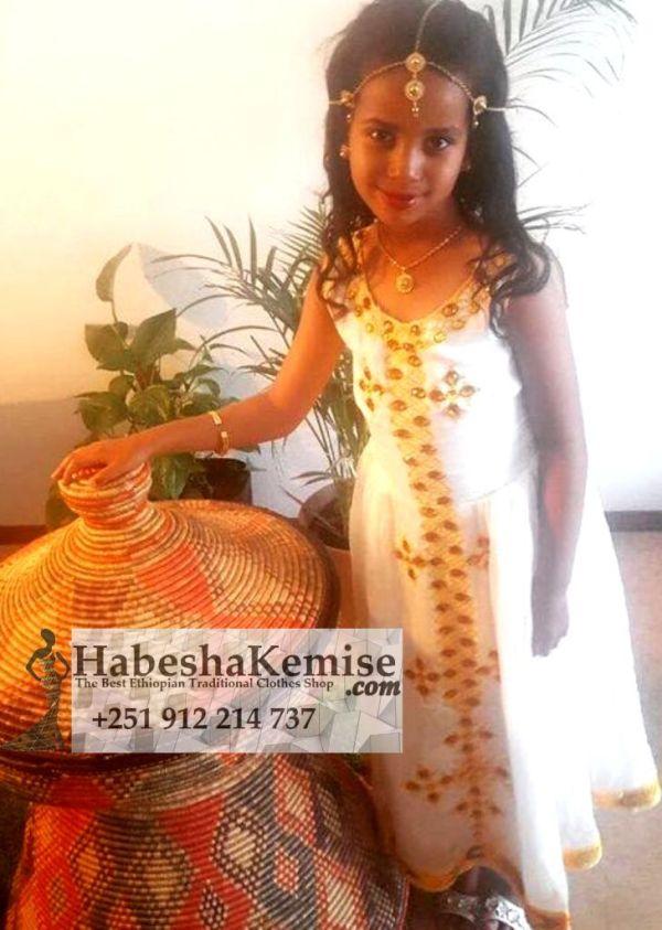 Princess Liya Ethiopian Traditional Dress Kids-13
