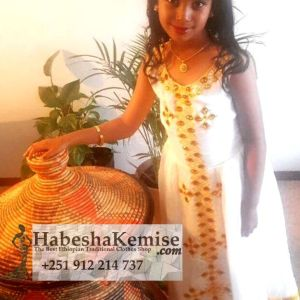 Princess Liya Ethiopian Traditional Dress Kids-13