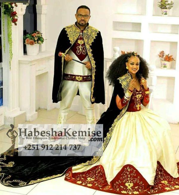 Regal Fiker Ethiopian Traditional Dress Wedding-34