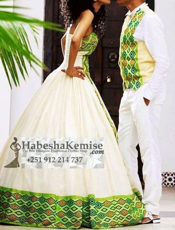 Spicy Life Ethiopian Traditional Dress Wedding-23