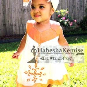 Sweet Edna Ethiopian Traditional Dress Kids-22
