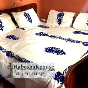 Traditional Ethiopian Meskel Bed Sheet Pillow Case Household Decor-5