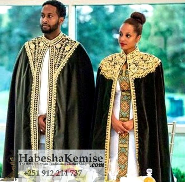 Tsedeys Exquisite Traditional Ethiopian Wedding Clothes-55