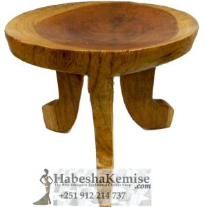 Wooden Stool Duka Ethiopian House Decor-14