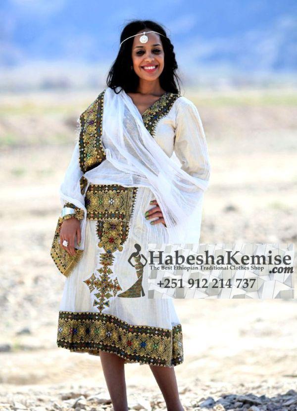 Workenesh Ethiopian Traditional Dress-16