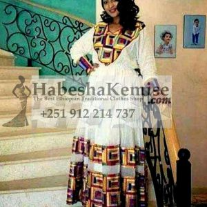 Wub Kelem Ethiopian Traditional Dress-9