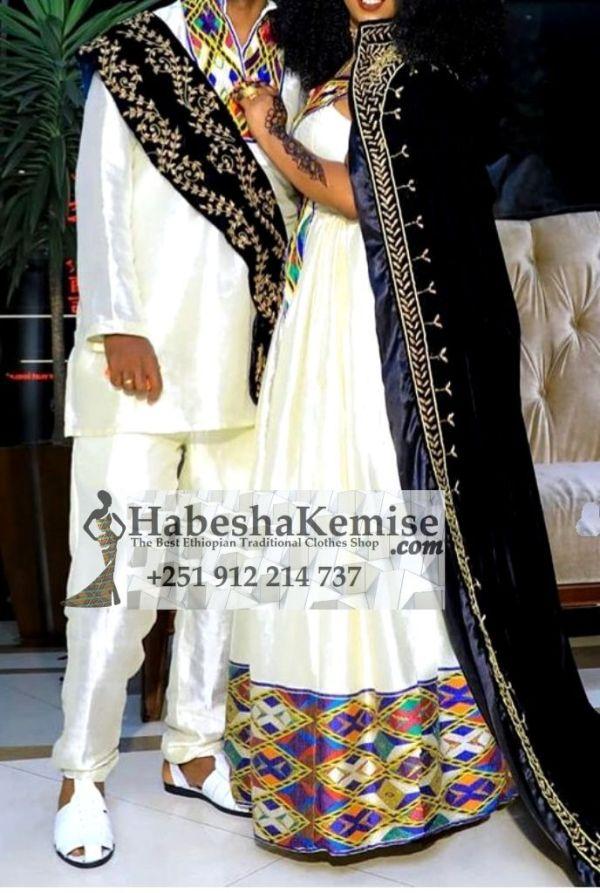 Zelalem Fiker Ethiopian Traditional Dress Wedding-9