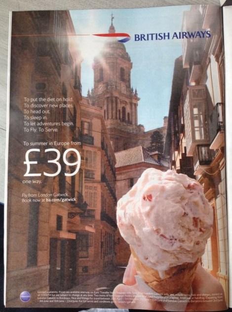 Campaña de publicidad British Airways con la Catedral de Málaga