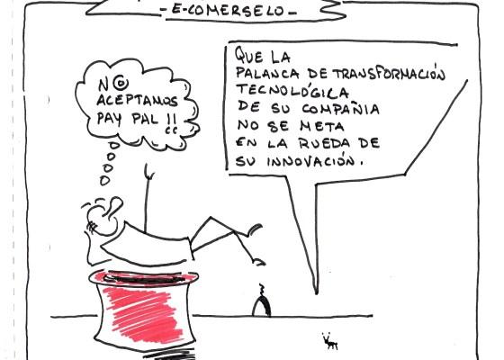 #viñeta palanca de transformación tecnológica. formas de pago