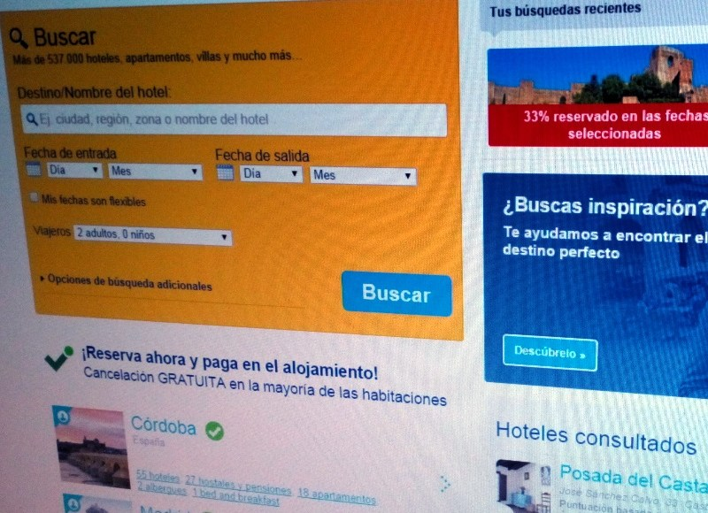 Web de Booking.com