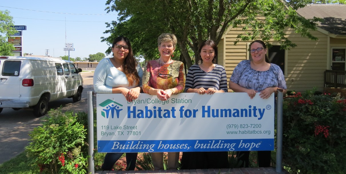 volunteer in the office at BCS Habitat for Humanity