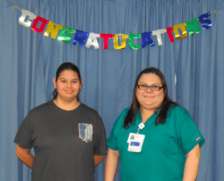 Vickie Montoya and her daughter Star (16) on February 2, 2016, the day they found out they were accepted into the Habitat program.