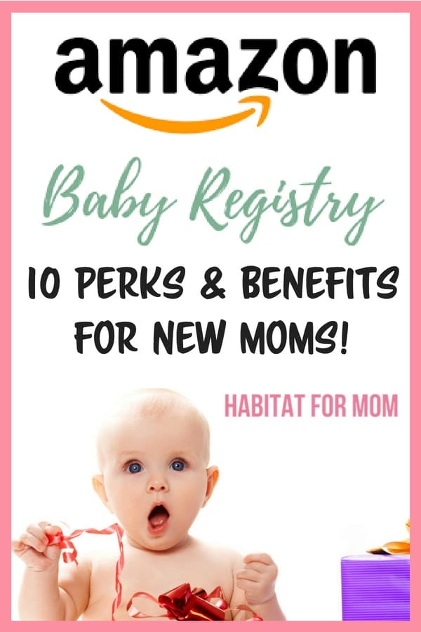 Amazon baby registry: 10 Perks and benefits for new moms! Discover the worlds largest baby registry for new mom. This baby registry offers deep discounts, amazing perks and benefits, as well as free stuff when you sign up! Learn how to get an amazon baby registry welcome box sent straight to your door for FREE! Click through to read more... New mom tips | Preparing for baby tips. #babyregistry #amazonbabyregistry #pregnancy #newmom #habitatformom