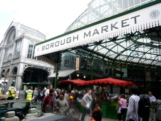 Borough Market is one of my favorite places to go in London. I get quite carried away with all the lush food on display and all the yummy sausages and cakes available for snacking on as you walk through the market. Before heading out of London after Weg Directions, Jeremy and I wandered through the market with coffees from Monmouth and collected a good stash of loot, including asparagus, fresh mozarella, culatello, and oak roasted tomatoes.