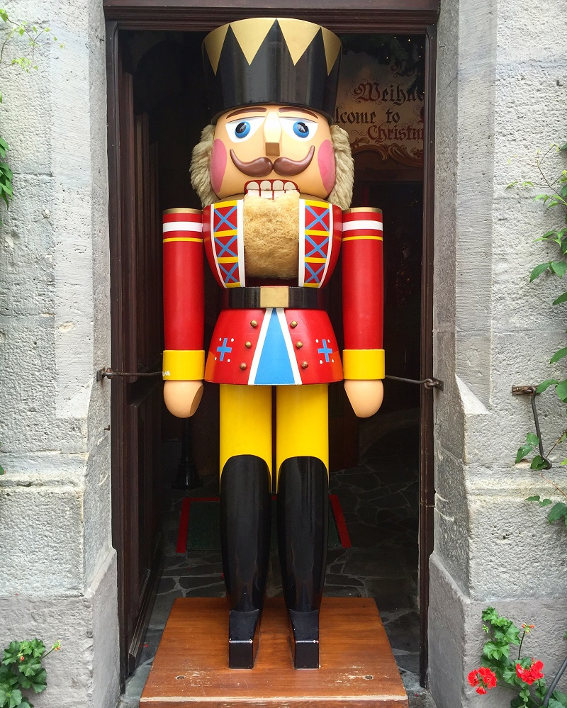 This nutcracker can be seen year-round.