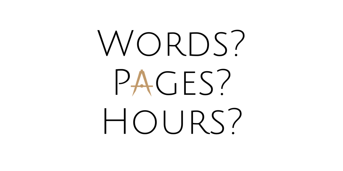 Words, Pages, or Hours? How to Measure Writing Productivity
