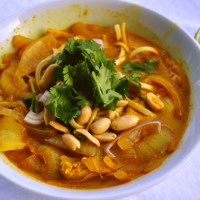 Thai Red Curry with Whole Grain Udon Noodles