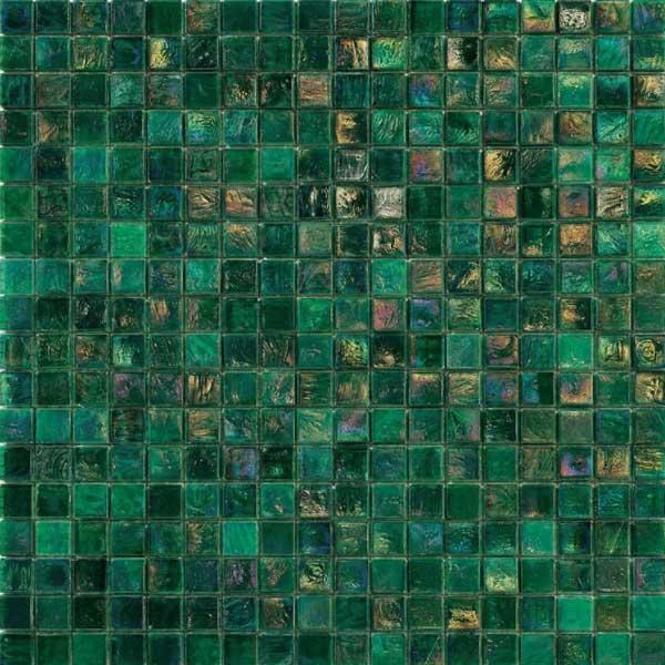 iridium fern 4 glass mosaic tile