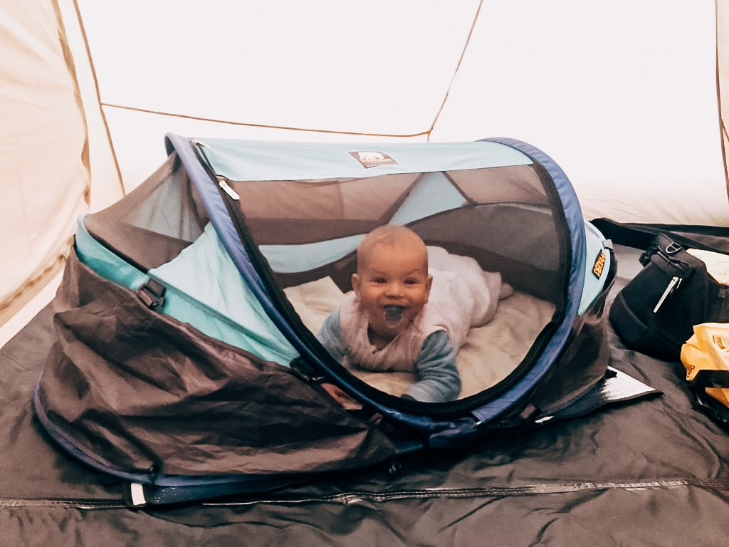 kamperen met een baby