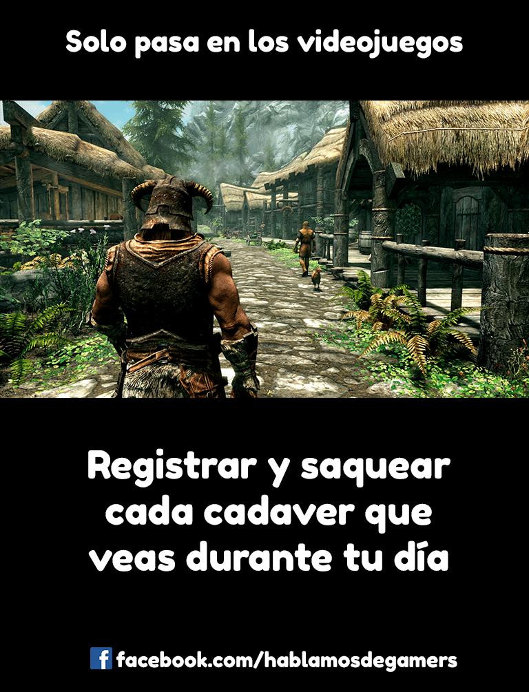 Memes de videojuegos - Skyrim