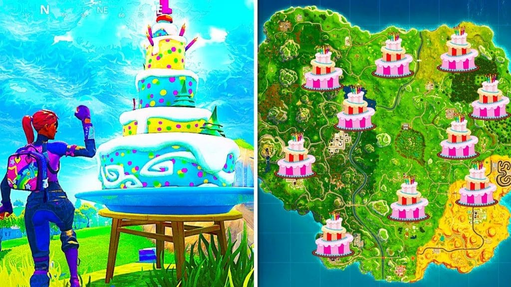 mapa de tartas de cumpleaños fortnite