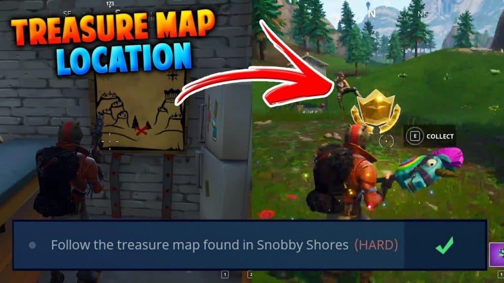 Fortnite: Sigue el mapa del tesoro que se encuentra en Snobby Shores