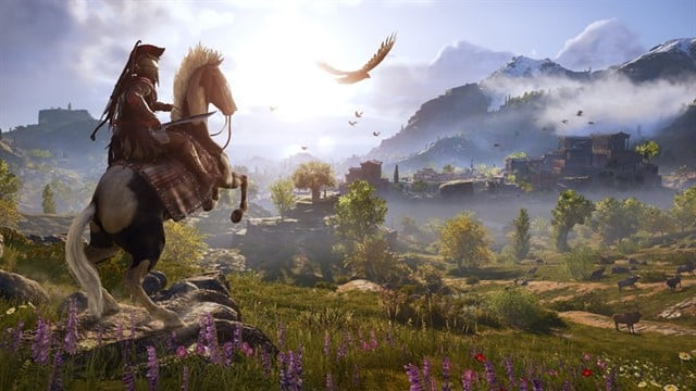 Assassin's Creed: Odyssey screen gameplay gráficos