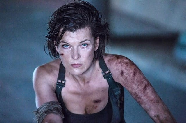Milla Jovovich Monster hunter rodaje