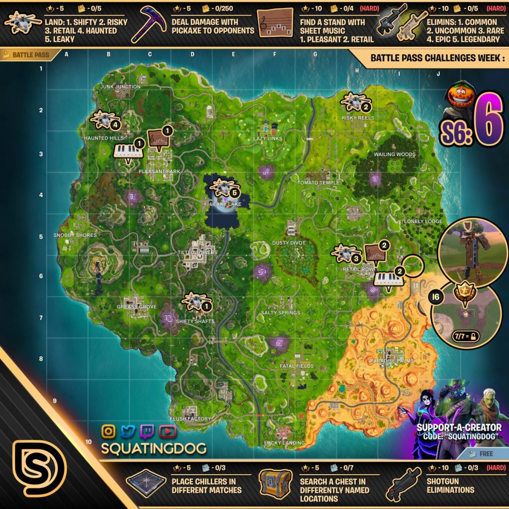 Fortnite Mapa Con Las Partituras Y Pianos Hablamos De Gamers