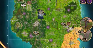 Fortnite: Map with scores and pianos