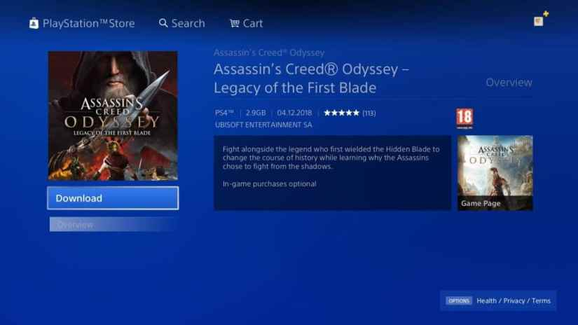 Assassin's Creed Odyssey, Legacy of the First Blade