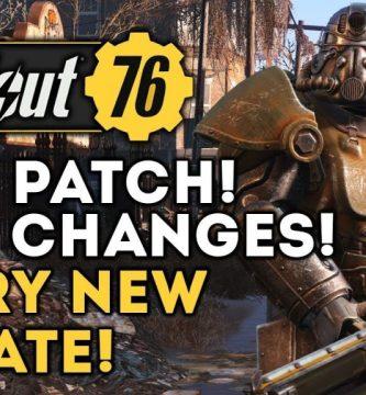 Fallout 76 Notas del nuevo parche 2019