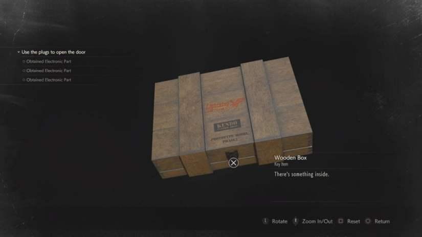 resident-evil-2-remake wooden box