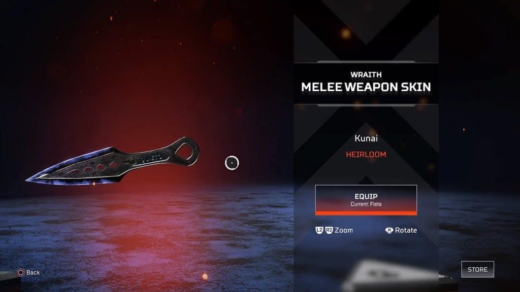 Obtener Cuchillo de Wraith