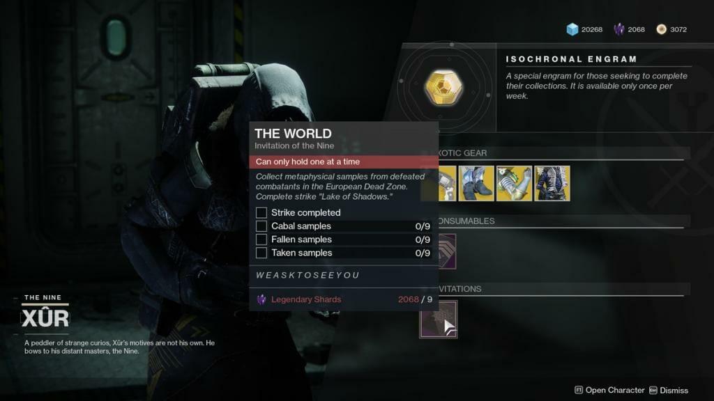 Destiny 2 Invitaciones de los Nueve