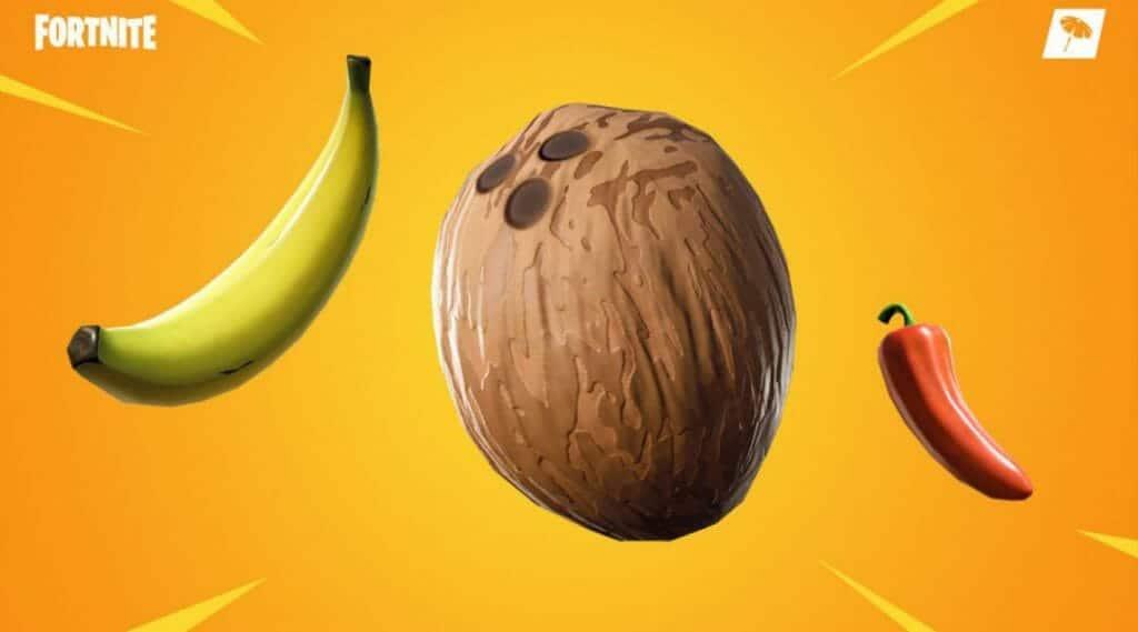 Fortnite Dónde encontrar Bananas, Cocos y Pimientos