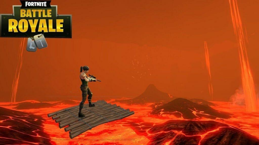 Fortnite El Suelo es Lava y Modo Arena
