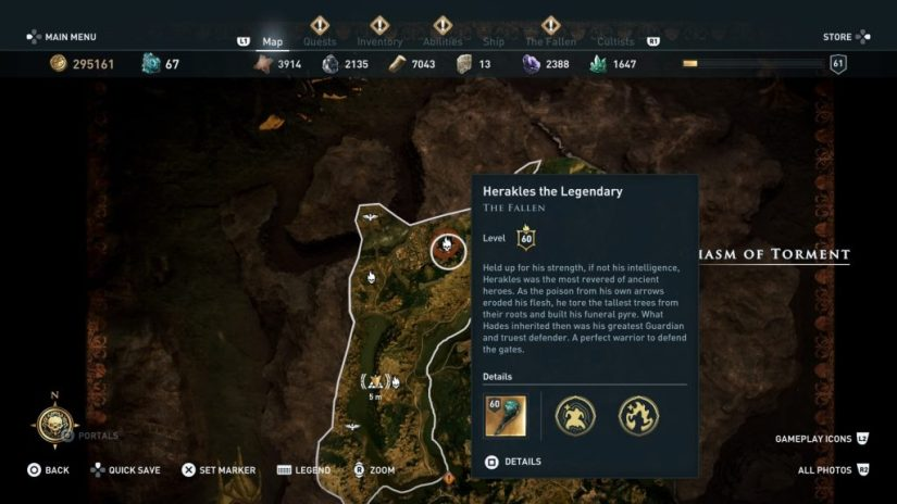 Dónde encontrar a Heracles assassins creed odyssey
